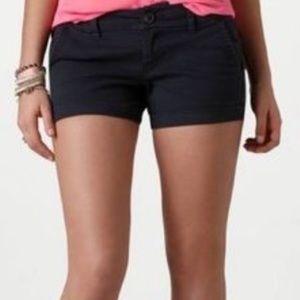 American Eagle Black Shortie Stretch Shorts